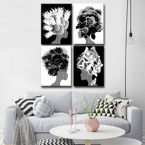 Ready2HangArt Wrapped Canvas 'Mod Swag' Four Piece Wall Décor