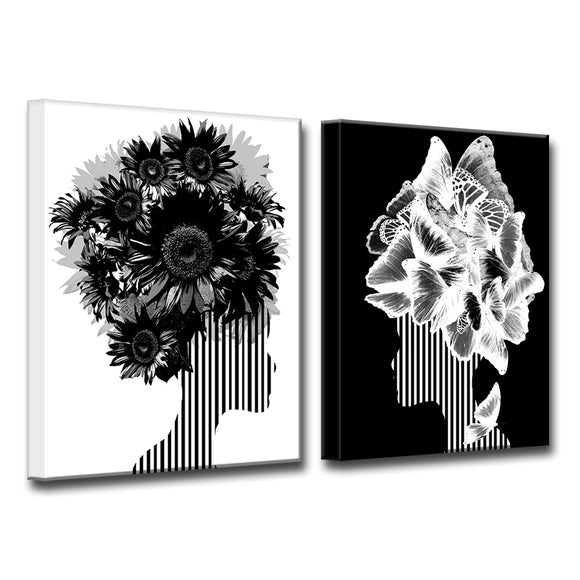 Ready2HangArt Wrapped Canvas 'Mod Swag II' 2 Piece Wall Décor