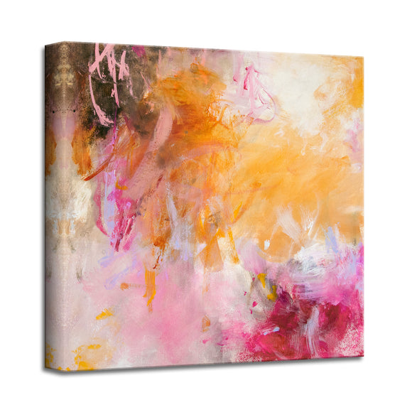'Springtime in Palm Beach' Abstract Canvas Wall Art