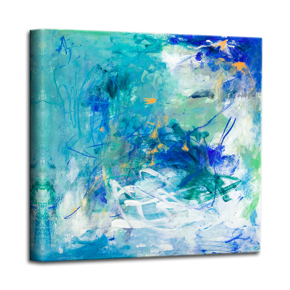 'Blue Lagoon' Abstract Canvas Wall Art