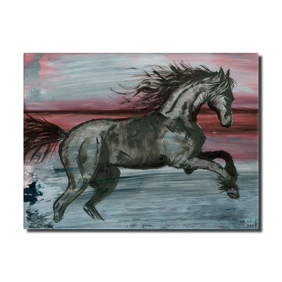 'Equestrian Saddle Ink PSVII' Canvas Wall Art