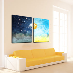 'Night & Day' Canvas Wall Art