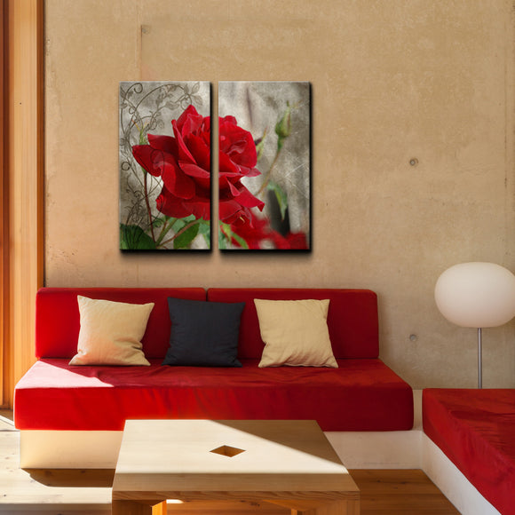 'Roses are Red II' Canvas Wall Art (2-Piece)