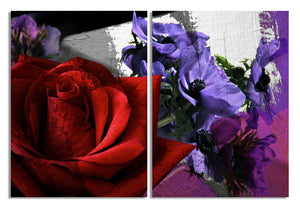 Ready2HangArt 'Roses are Red, Violets are Blue III' Canvas Wall Art (2-Piece)