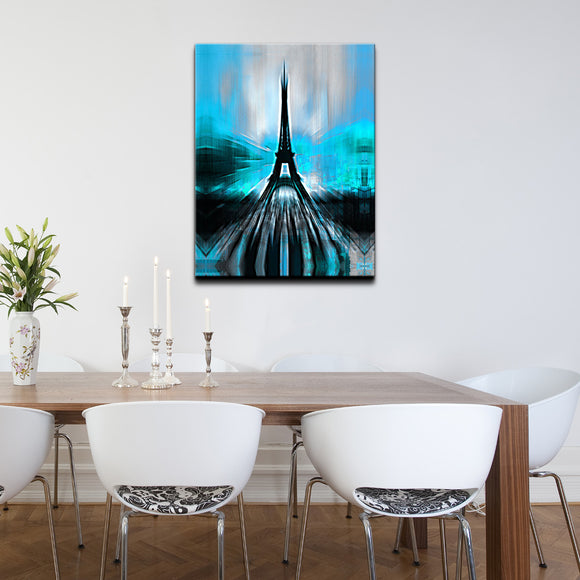 Ready2HangArt 'Paris in Blue Abstract' Canvas Wall Art