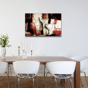 'Abstract Wine' Wrapped Canvas Wall Art