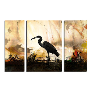 Silouette III' 3 Piece Wrapped Canvas Wall Art Set