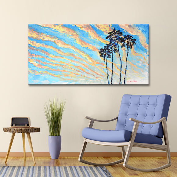 'Magic Hour' Wrapped Canvas Coastal Wall Art