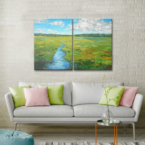 'Field Day' 2-Pc Wrapped Canvas Coastal Wall Art Set