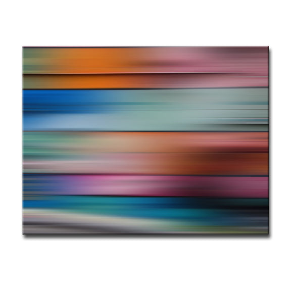 Ready2HangArt 'Blur Stripes XVII' Canvas Wall Art