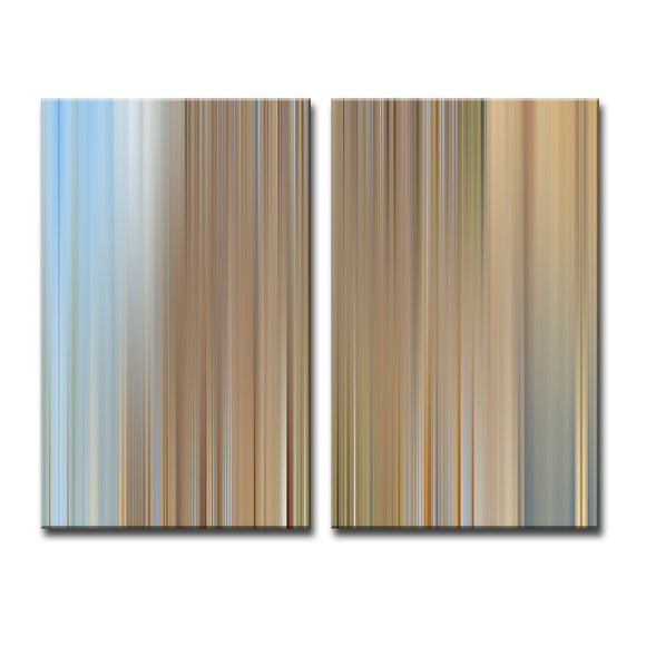 Ready2HangArt 'Blur Stripes XXV' 2-PC Canvas Wall Art Set