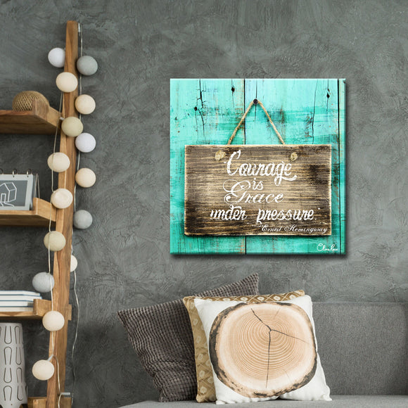 Ready2HangArt 'Courage is Grace' by Olivia Rose Canvas Art
