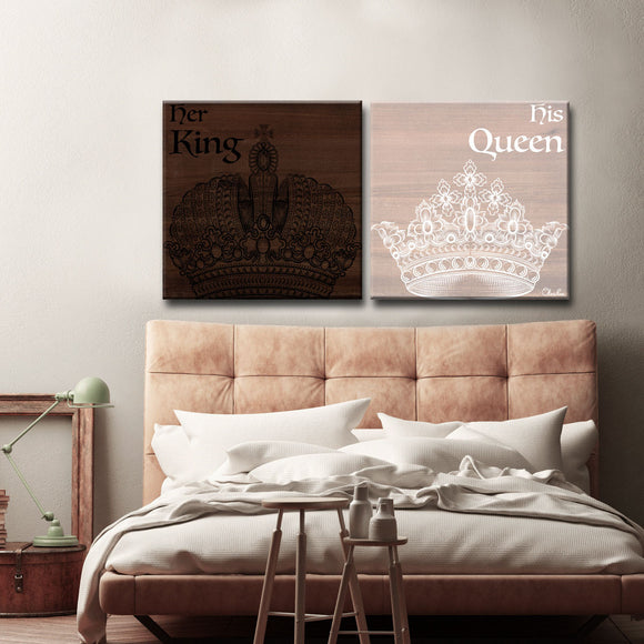 Ready2HangArt 'Her King His Queen' by Olivia Rose 2-PC Canvas Art Set