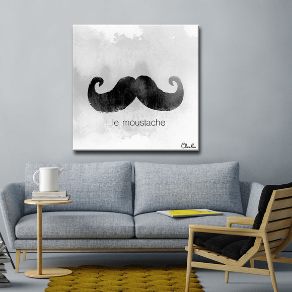 Ready2HangArt 'le Moustache' by Olivia Rose Canvas Art