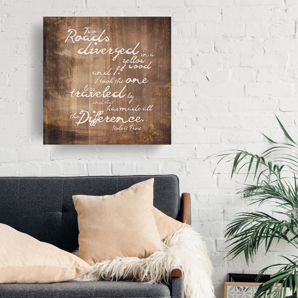 Ready2HangArt 'Robert Frost - Road Traveled' by Olivia Rose Canvas Art