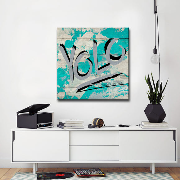 Ready2HangArt 'YOLO' by Olivia Rose Canvas Art