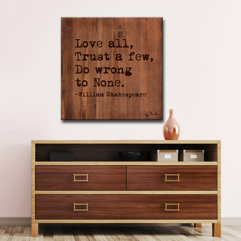 Ready2HangArt William Shakespeare - Love by Olivia Rose Canvas Art