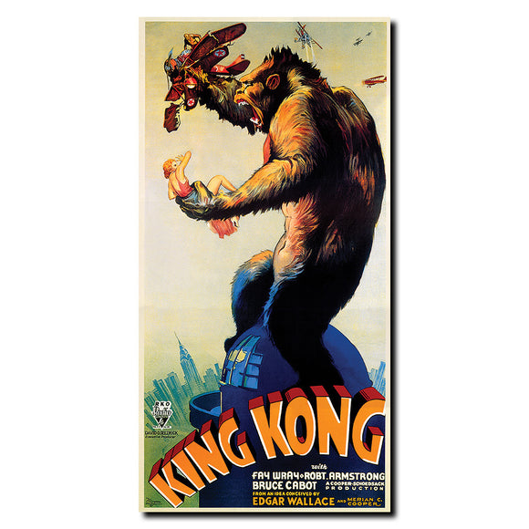 Vintage King Kong Wrapped Canvas Art