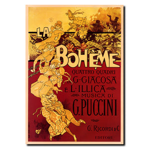 Vintage Boheme Puccini by Adolfo Hohenstein Wrapped Canvas Art
