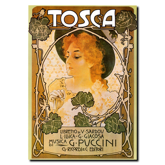 Vintage Tosca by Leopoldo Metlicovitz Wrapped Canvas Art