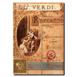 Vintage Verdi Rigoletto Opera Wrapped Canvas Art