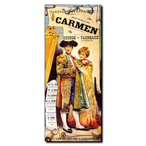 Vintage Carmen Wrapped Canvas Art