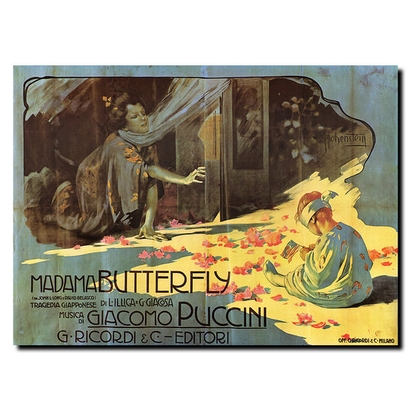 Vintage Madama Butterfly Wrapped Canvas Art