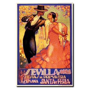 Vintage Sevilla Fiestas de Primavera by Da Pena Wrapped Canvas Art