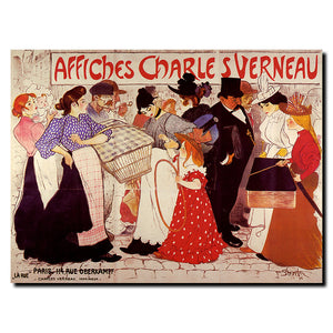 Vintage Affiches Charles Verneau by Steinlen Wrapped Canvas Art