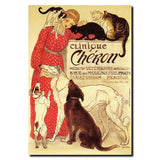 Vintage Clinique Cheron by Theophile A. Steinlen Wrapped Canvas Art