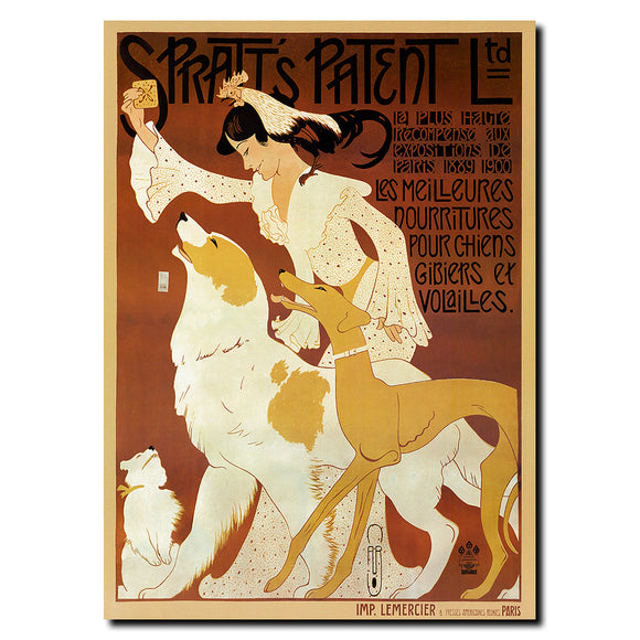 Vintage Spratts Patenet Ltd. by Auguste Roobille Wrapped Canvas Wall Art