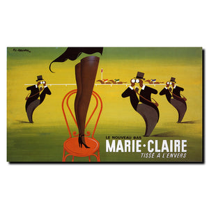 Vintage Le Nouveau Bas Marie-Claire by Pierre Fix-Masseau  Wrapped Canvas Art