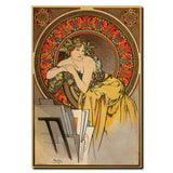 Vintage Mucha by Alphonse Mucha Wrapped Canvas Art