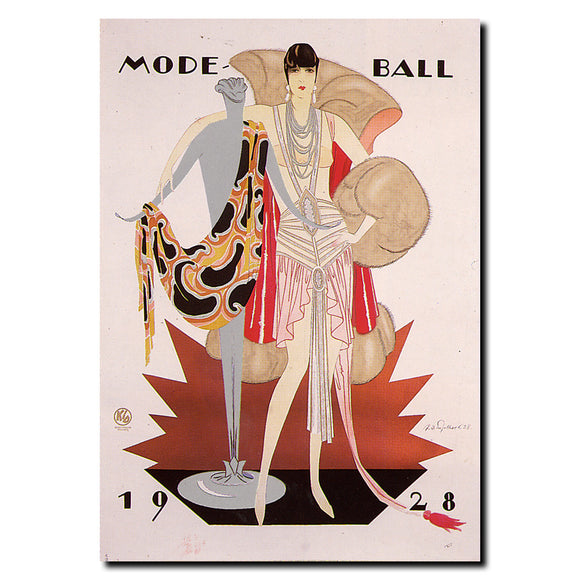 Vintage Mode Ball 1928 Wrapped Canvas Art