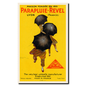 Vintage Parapluie-Revel by Leonetto Cappiello Wrapped Canvas Art