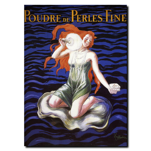 Vintage Poudre de Perles by Leonetto Cappiello Wrapped Canvas Art