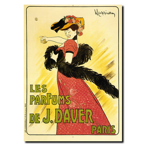 Vintage Les Parfums de J. Daver by Leonetto Cappiello Wrapped Canvas Art