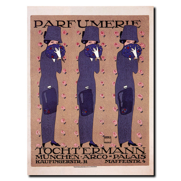 Vintage Parfumerie by Ludwig Tochtermann Wrapped Canvas Art