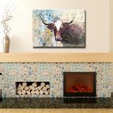 Ready2HangArt™ 'Long Horns' Gallery Wrapped Canvas Art
