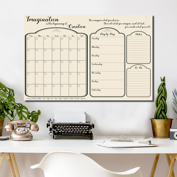 R2H Methods 'Imagine' Dry Erase Monthly Calendar and Planner on ArtPlexi