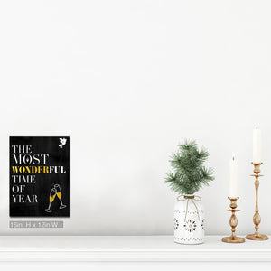 'Time of Year' Wrapped Canvas Christmas Textual Wall Art