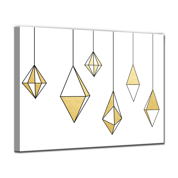 'Glam Dangles' Wrapped Canvas Christmas Wall Art
