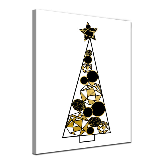 'Glam Tree' Wrapped Canvas Christmas Wall Art