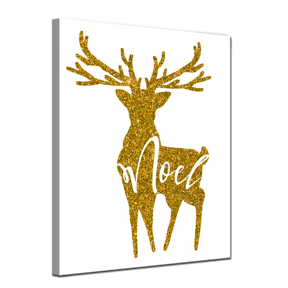 'Glam Noel' Wrapped Canvas Christmas Textual Wall Art