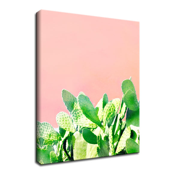 'Heat Rise' Wrapped Canvas Succulent Wall Art