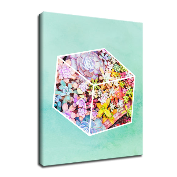 Ready2HangArt 'Garden Cube' Wrapped Canvas Wall Art