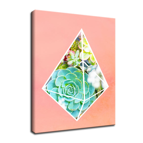 Ready2HangArt 'Green Diamond' Wrapped Canvas Wall Art