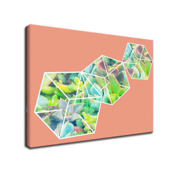 Ready2HangArt 'Green Ice Dice' Wrapped Canvas Wall Art