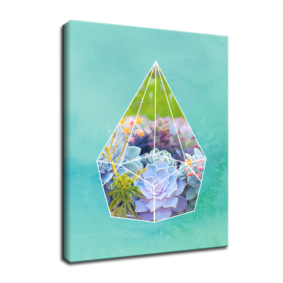 Ready2HangArt 'Terrarium Bloom' Wrapped Canvas Wall Art