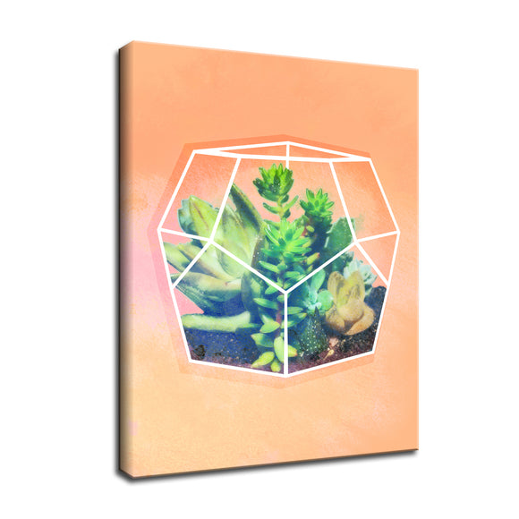 Ready2HangArt 'Terrarium Orange' Wrapped Canvas Wall Art